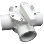 Olympic 3-Way Olympic Valve, 1-1/2in. FPT, White
