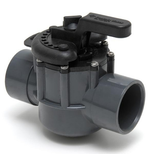 """Pentair - 263029 Two Port Diverter Valve with 2"""" PVC Pipe"""