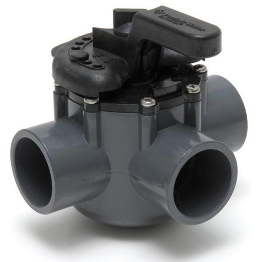 Pentair  263037 Diverter Valve Three Port with 1-1/2 ID  2 OD PVC Pipe