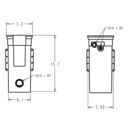 Letro Auto-Fill  Pentair Letro Auto-Fill T40FW with Fluidmaster Valve (White)