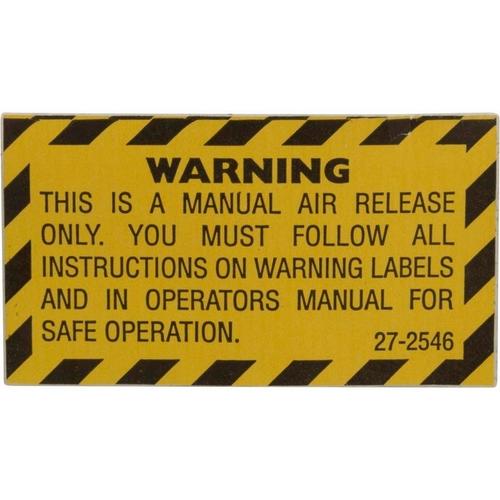 Pentair - Label, Warning