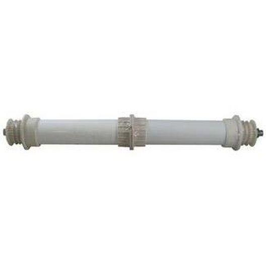 Aquabot - Pool Cleaner Wheel Tube Assembly (White, Stainless Steel Axle, Black Plastic Bushing Caps) - 623088