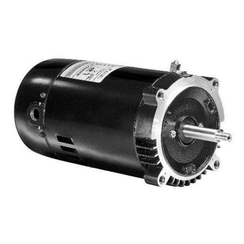 U.S. Motors - Emerson 56J C-Flange 1-Speed 1HP Full-Rated Pool and Spa Motor