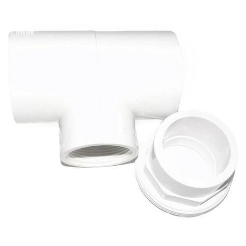 Zodiac - Sensor Tee with 1-1/2in. Union, White