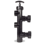 Jandy - Slide 2in. Valve 8in. Center to Center, Pre-Plumbed with Universal Unions - 624525