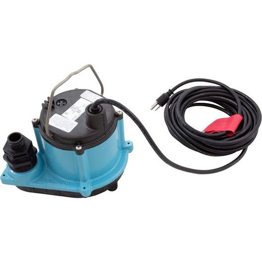 Franklin Electric  Little Giant 6 Series Manual Submersible Pump 1/3HP 45 GPM with 25 Cord 115V