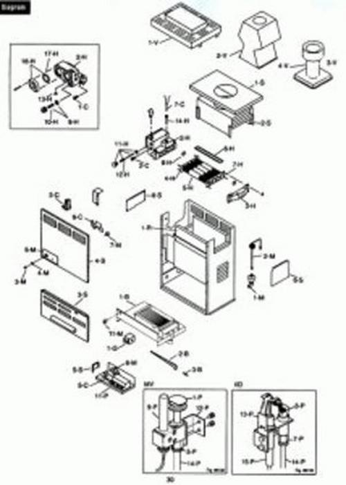 Raypak - Conversion Kit, Propane to NG, 105A, Electronic
