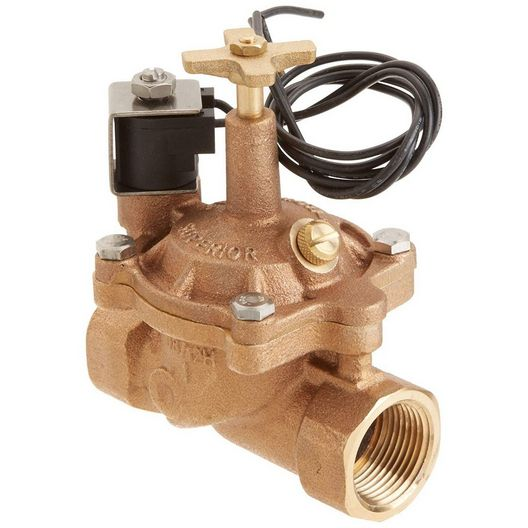 Zodiac  1in Brass Valve 24V Solenoid with Flow Control