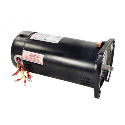Century A.O. Smith - 48Y Square Flange 2 HP Single Speed Three Phase Pool and Spa Pump Motor, 8.5/4.25A 208-230/460V
