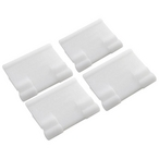 Poolvergnuegen - Bracket for Skirt, Set of 4, White - 628368