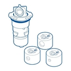 Paramount - PV3 Automatic In-Floor Cleaning and Circulating System Nozzle with Cap, Blue - 630135