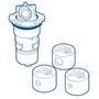 Pool Valet Retrofit Nozzle - Beige