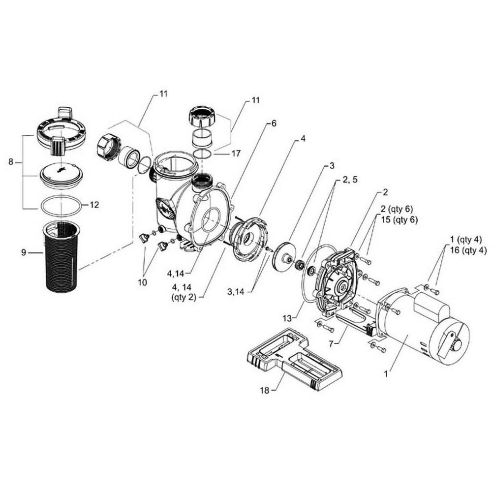 Jandy FHPM FloPro Series Pump image