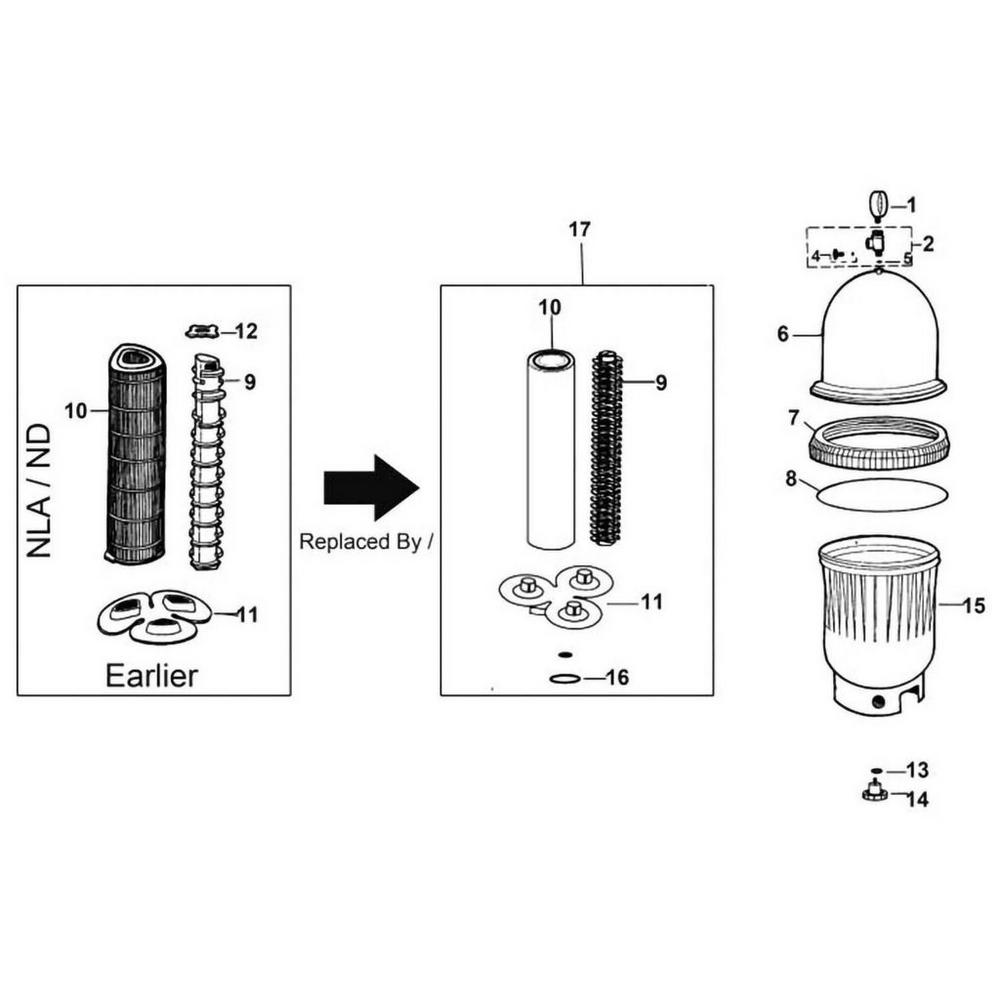 Jacuzzi TRI-C.L.O.P.S. Element Filter TC-300, TC-450 & TC-600 Series image