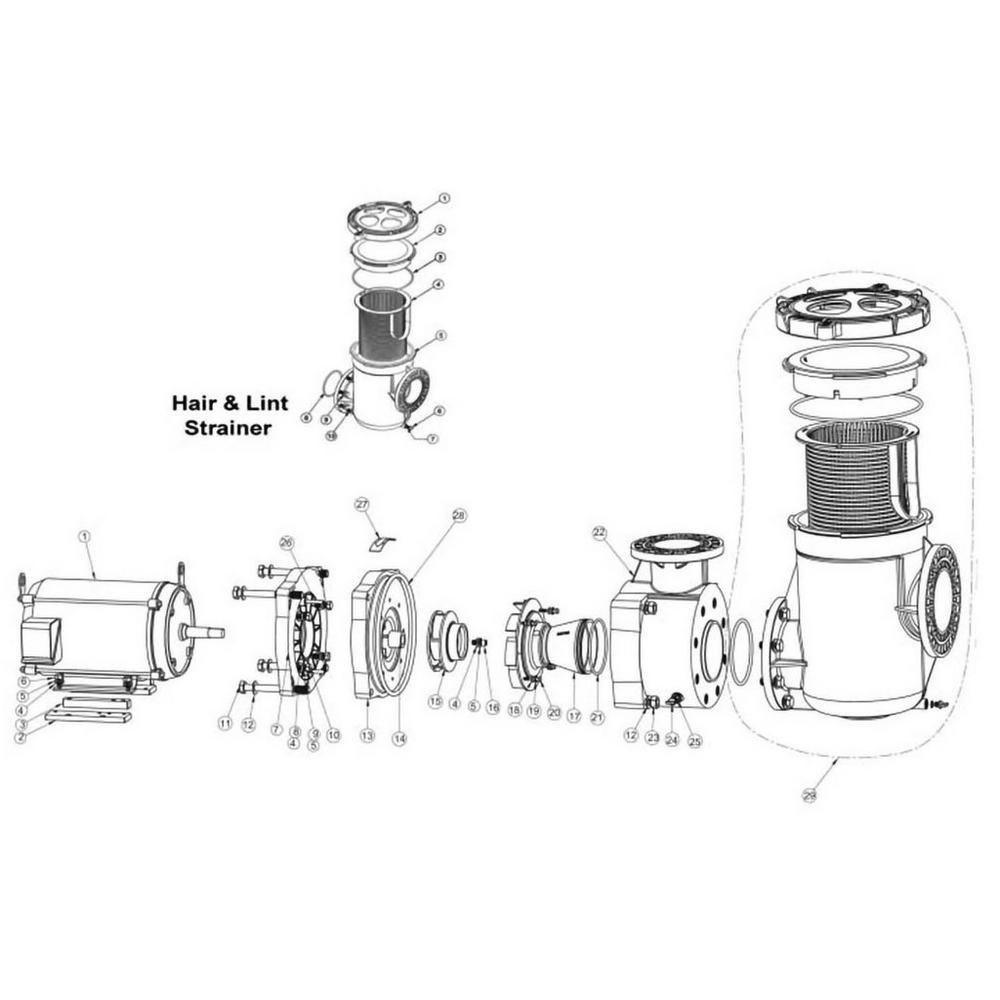 Pentair EQ Commercial Plastic Pump image