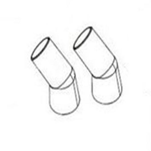 Jacuzzi  45 Degree Elbow for J-D300 Cleaner 2 Pack