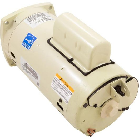 Square Flange Motor, 2 HP, 2 Speed - Almond