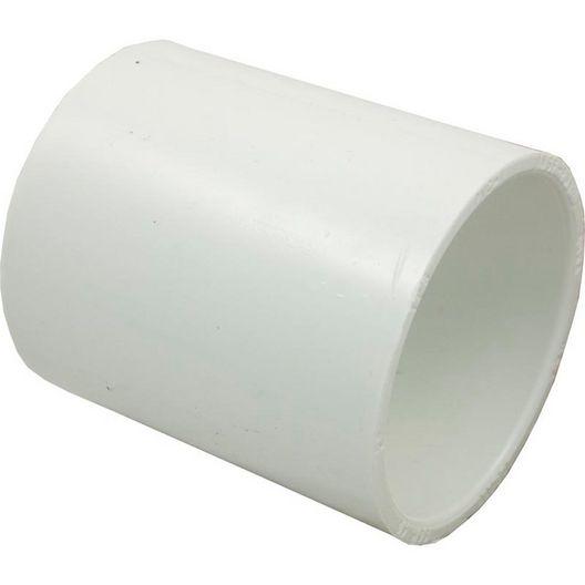 LASCO - PVC Coupler, 2in Slip Socket Coupling, Schedule 40 - 68078