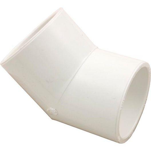 PVC 45 Degree Coupling, 1.5in X 1.5in Slip Socket