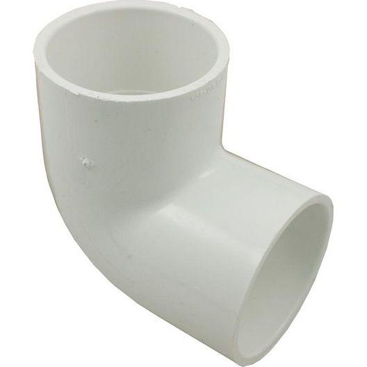 PVC 90 Degree Elbow, 2in X 2in Slip Socket
