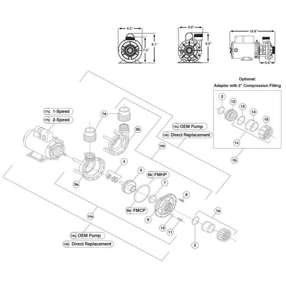 Aqua-Flo Flo-Master FMCP Pump image