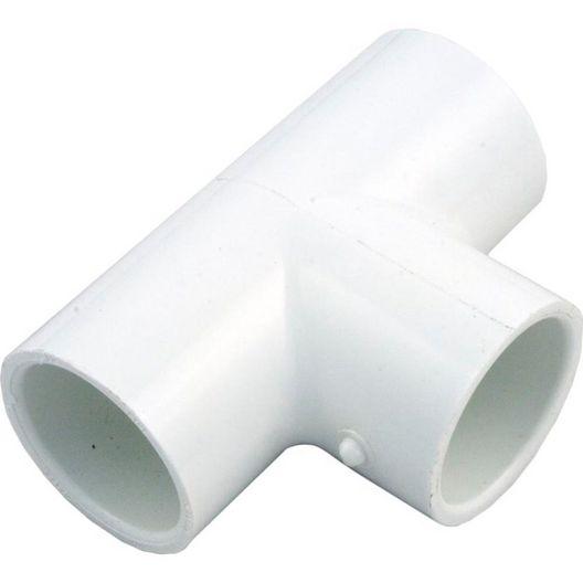 1in PVC Tee Fitting, 1x1x1 Slip Socket Tee, Sch 40