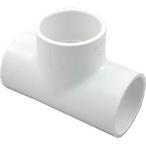 1.5in PVC Tee Fitting, 1.5x1.5x1.5 Slip Socket Tee, Sch 40