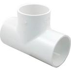 LASCO - 2in PVC Tee Fitting, 2x2x2 Slip Socket Tee, Sch 40 - 68729
