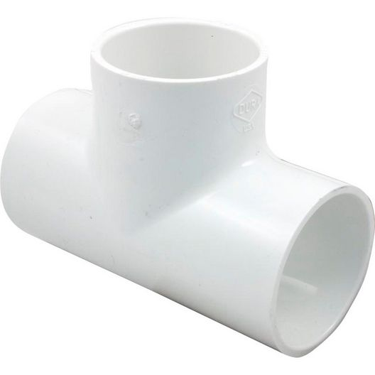 2in PVC Tee Fitting, 2x2x2 Slip Socket Tee, Sch 40