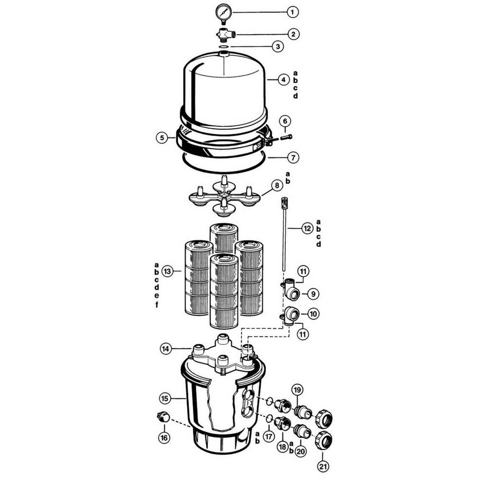 Super Star-Clear, Duralon & Permaglass Cartridge Filter Parts image