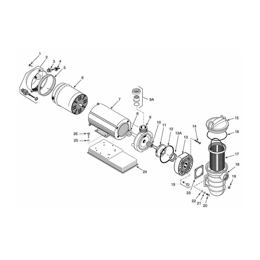 Sta-Rite JWP Pump w/Canopy & 25 Cord image