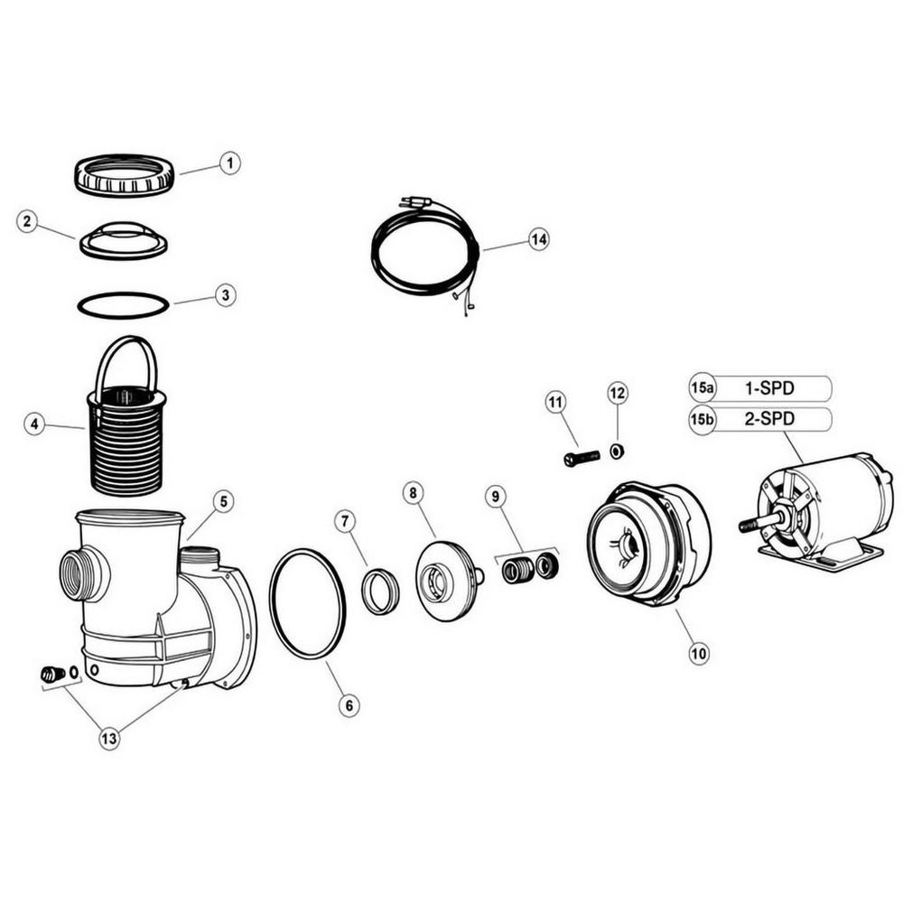 Jacuzzi LR, LR3, LR6, LR9 Pump Pump image