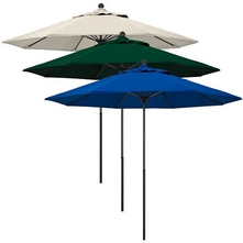 California Umbrella - 9 Ft Patio Umbrella, Hunter Green