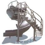 S.R. Smith Vortex Closed Flume Complete Pool Slide, 10ft 7in Tall with 19ft Corkscrew