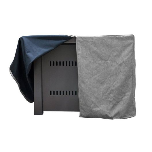 AZ Patio Heaters  Square Fire Pit Commercial Cover in Gray