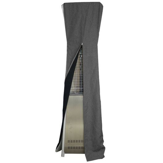 AZ Patio Heaters  Triangle Glass Tube Patio Heater Commercial Cover in Gray