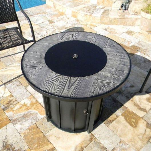 AZ Patio Heaters  Faux Wood Tile Top Fire Pit
