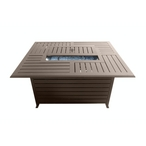 Outdoor Aluminum Rectangular Fire Pit in Hammered Bronze
