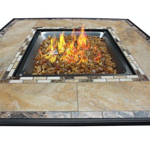 AZ Patio Heaters  Square Tile Top Fire Pit