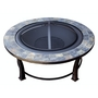 Wood Burning Fire Pit with Round Slate Table