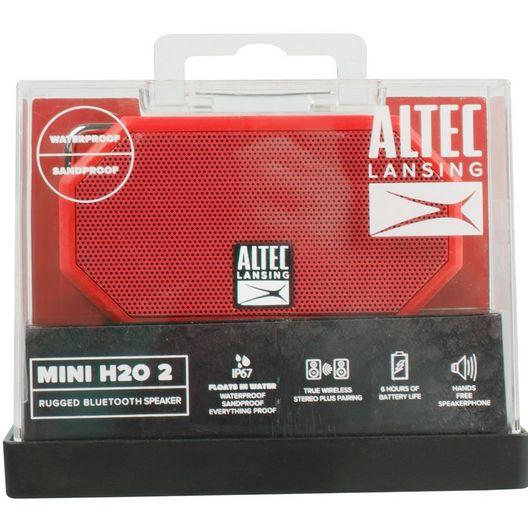 Altec Lansing  Mini H20 3 Bluetooth Speaker Dark Red