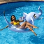 "48""Jumbo Glitter Elephant Pool Tube with Drink Float"