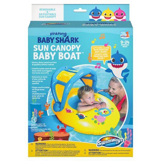 Swimways - Baby Shark Sun Canopy Baby Boat - 70429
