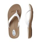 Okabashi - Flip Flops Breeze Toffee/White, Small - 70477