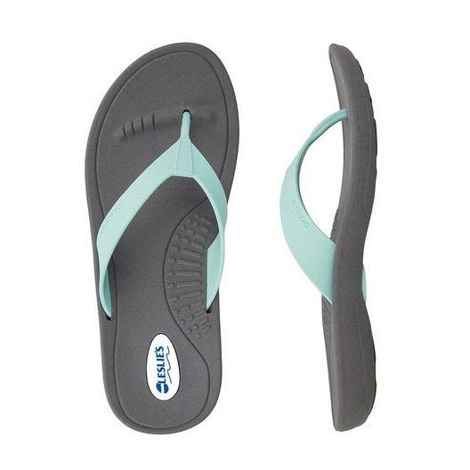 Okabashi  Flip Flops Breeze Slate/Sea Foam Medium Large