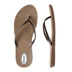 Okabashi - Flip Flops Shoreline Toffee/Copper, Size 10 - 70516