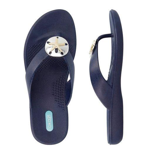Okabashi  Flip Flops Sandy  Sapphire Size M/L