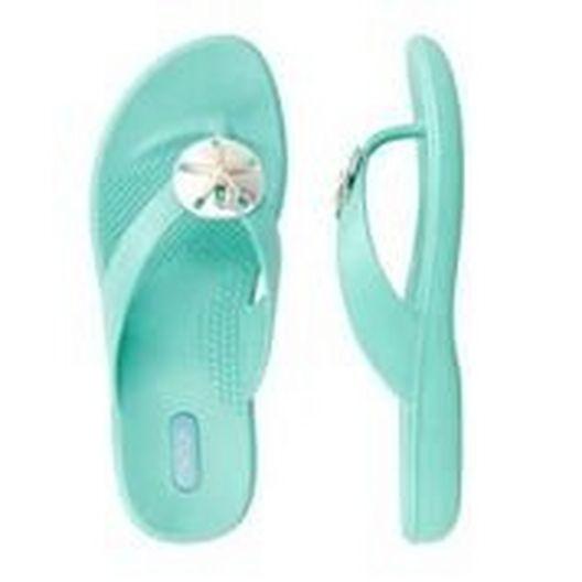 Okabashi  Flip Flops Sandy  Sea Glass Size M/L