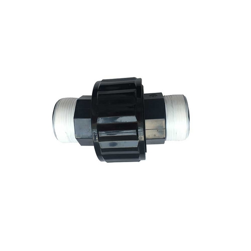 """Right Fit - Replacement 1.5"""" Double Male Threaded Union, Black"""