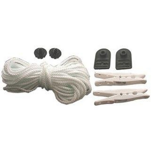 Mid-Grip Pull Rope (Helps Pull Blanket onto Pool 35' Rope, 2 Clips, 2 Plates, and 2 Fasteners)